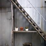 代官山の壁と階段